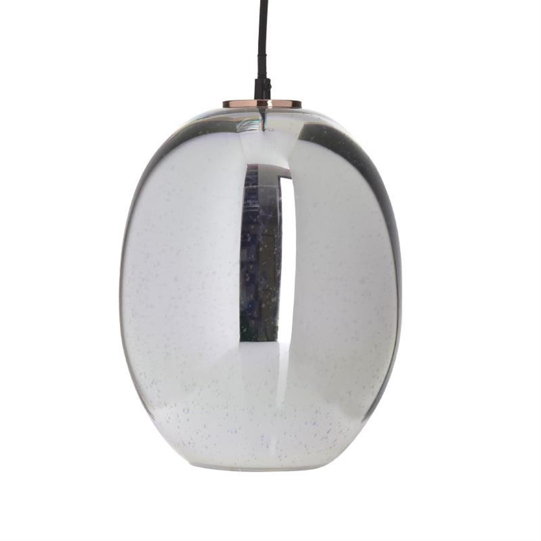 Φωτιστικό οροφής γυάλινο ασημί/χρυσό Δ22x90cm Inart 3-10-716-0040