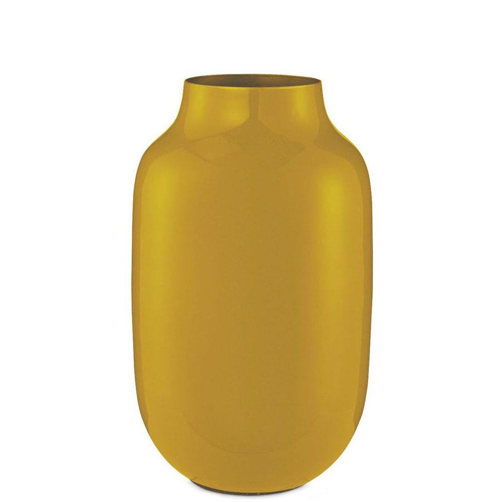 Βάζο διακοσμητικό μεταλλικό κίτρινο 10.5x30cm Pip Studio 51102012