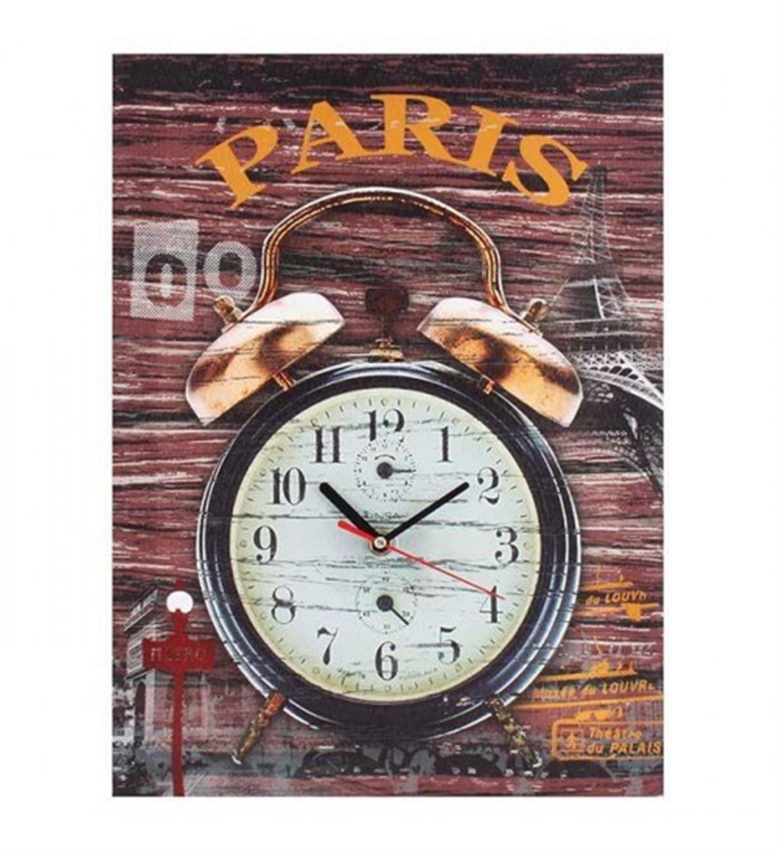 Ρολόι/Πίνακας Paris ξύλινο 30x2x40cm Inart 3-20-105-0042