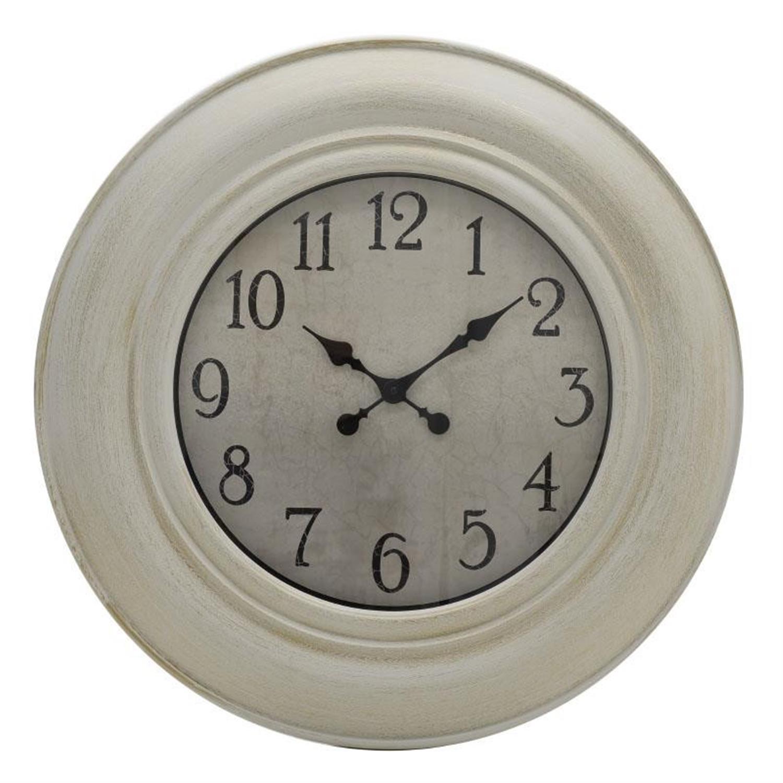 Ρολόι τοίχου polyresin λευκό χρυσό 75x5cm Inart 3-20-925-0005