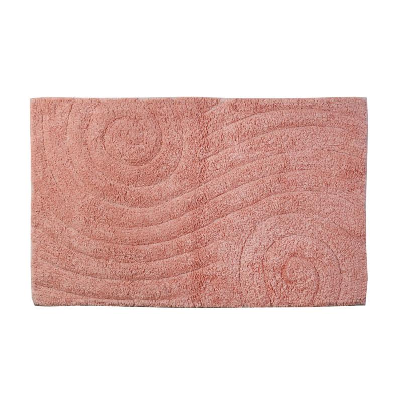 Πατάκι/ταπέτο μπάνιου Maze βαμβακερό ροζ 50x80cm Estia 02-4286