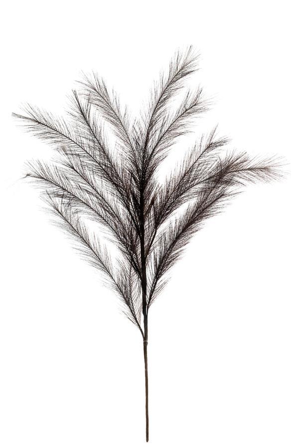 Λουλούδι διακοσμητικό φτερό γκρι σκούρο