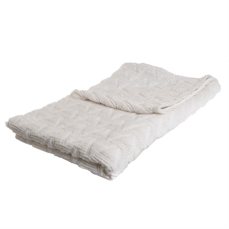 Ριχτάρι συνθετική γούνα λευκό 150x180cm Inart 3-40-575-0400