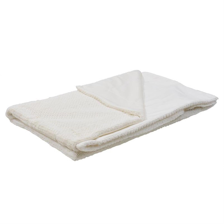 Ριχτάρι συνθετική γούνα λευκό 150x180cm Inart 3-40-575-0418