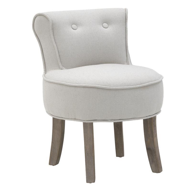 Καρέκλα ξύλινη/υφασμάτινη κρεμ/μπεζ 45x46x58_36cm Inart 3-50-659-0031