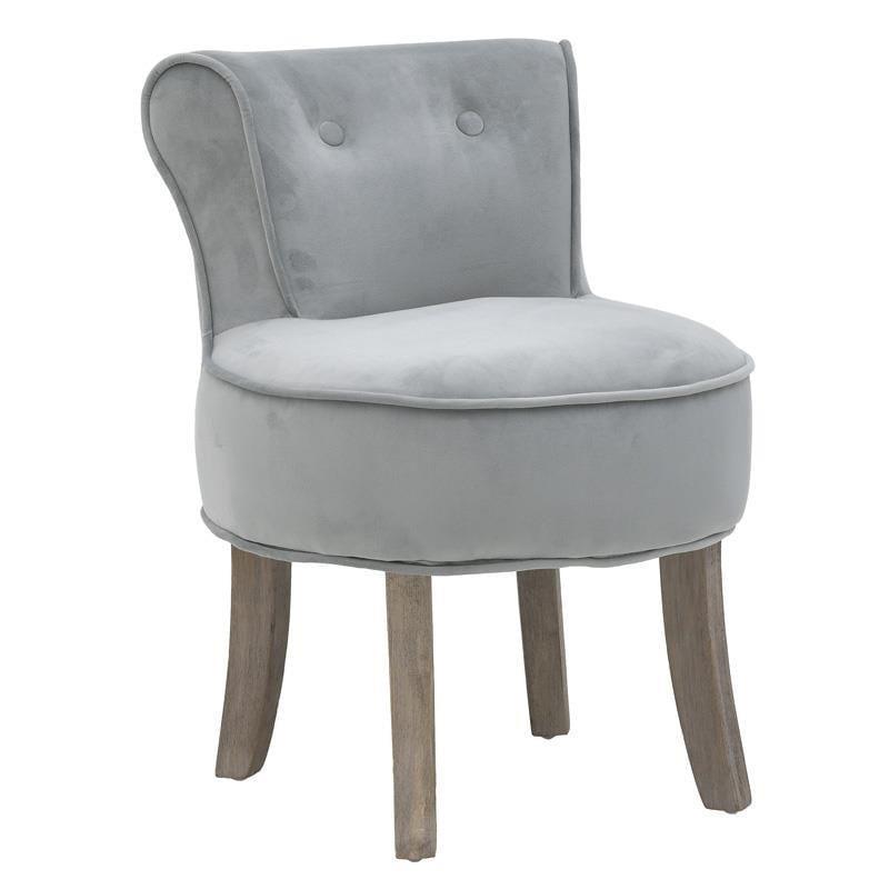 Καρέκλα ξύλινη/υφασμάτινη γκρι/μπεζ 45x46x58_36cm Inart 3-50-659-0033