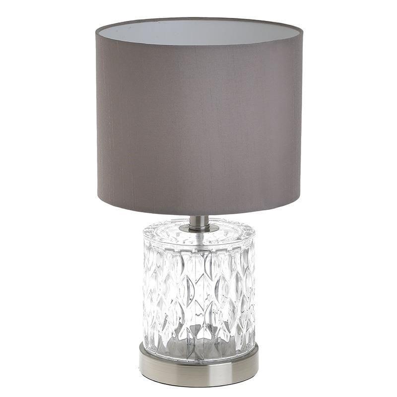 Φωτιστικό επιτραπέζιο γυάλινο/διαφανές Δ20x36cm Inart 3-15-501-0062