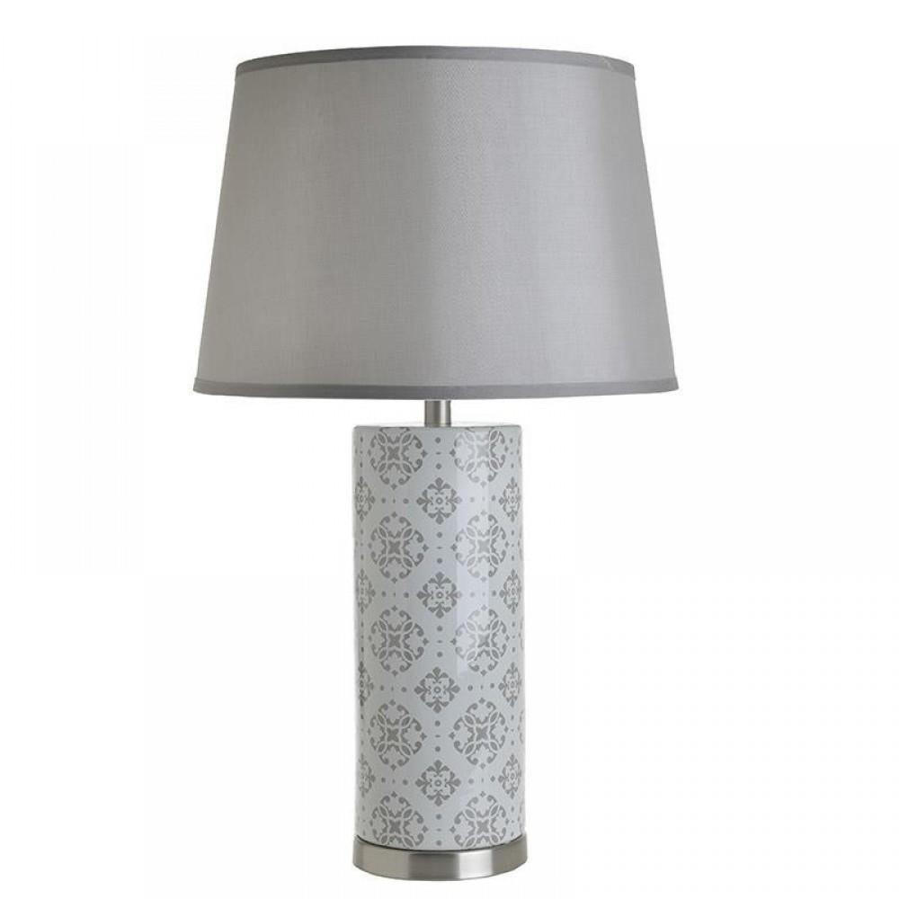 Φωτιστικό επιτραπέζιο κεραμικό μπεζ/λευκό 43x72cm Inart 3-15-959-0058