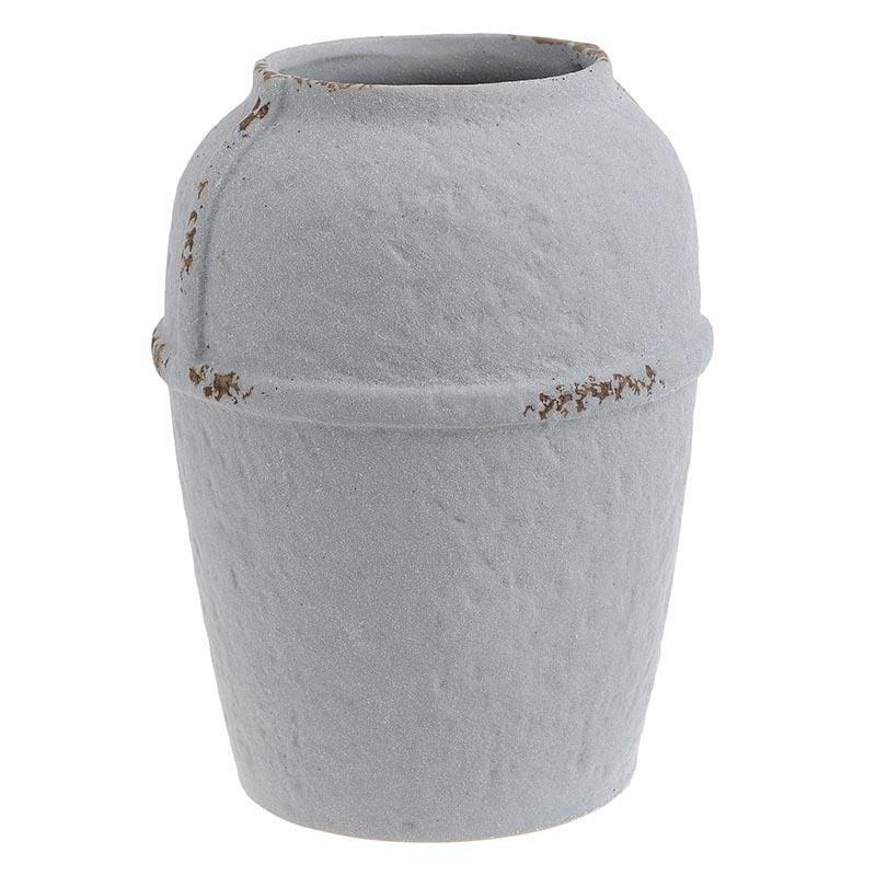 Βάζο διακοσμητικό κεραμικό αντικέ λευκό 18x18x24cm Inart 3-70-632-0012
