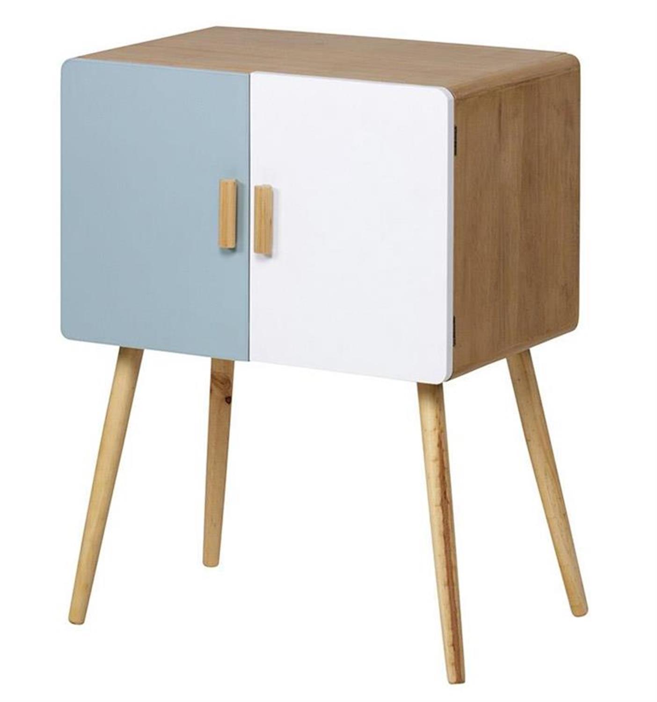 Ντουλάπι ξύλινο σιελ/μπεζ 60x40x80cm Inart 3-50-104-0228