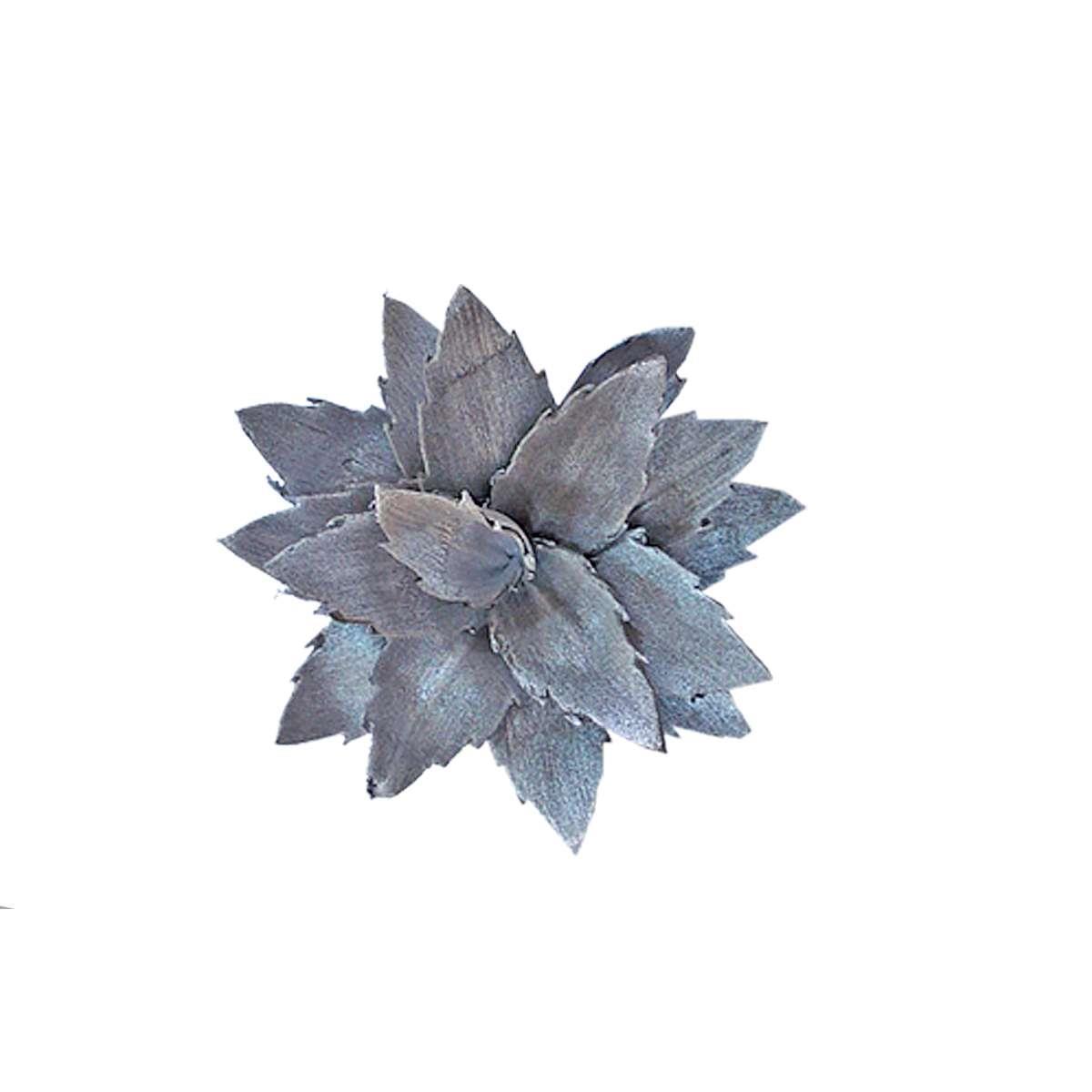 Λουλούδι διακοσμητικό γκρι Υ18cm