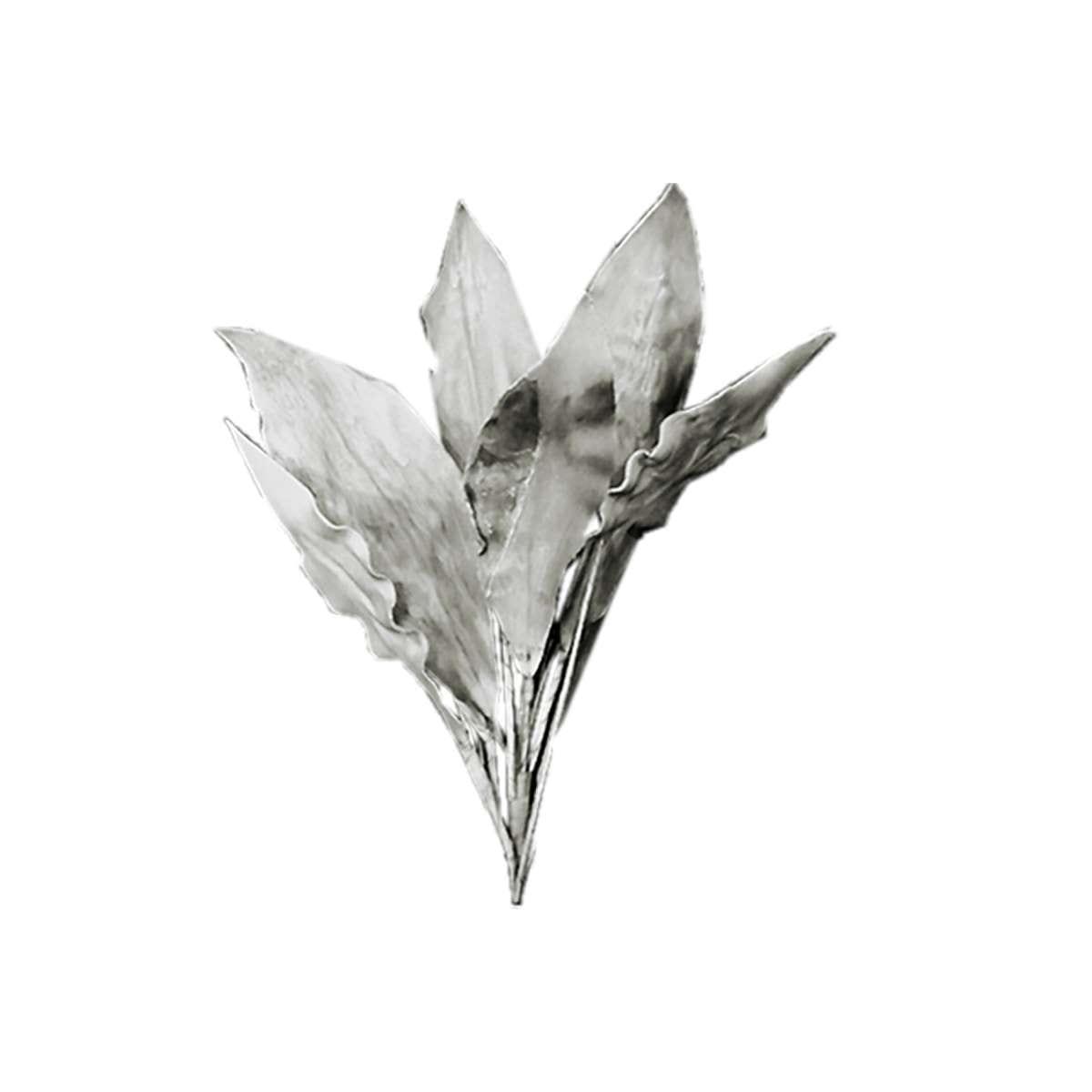 Κλαδί διακοσμητικό με γκρι φύλλα Υ100cm