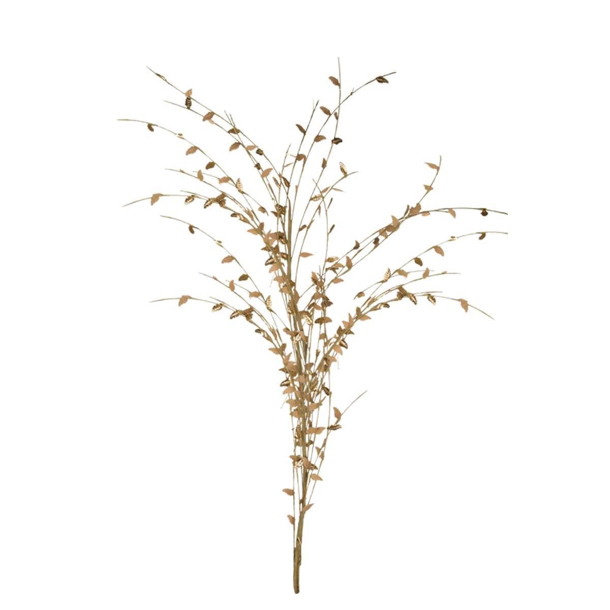 Κλαδί διακοσμητικό με χρυσά φύλλα Υ120cm