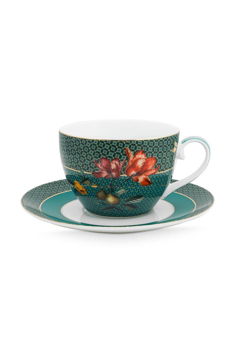 Φλιτζάνι cappuccino με πιατάκι 280ml Winter Wonderland πορσελάνινο πράσινο Pip Studio 51004113