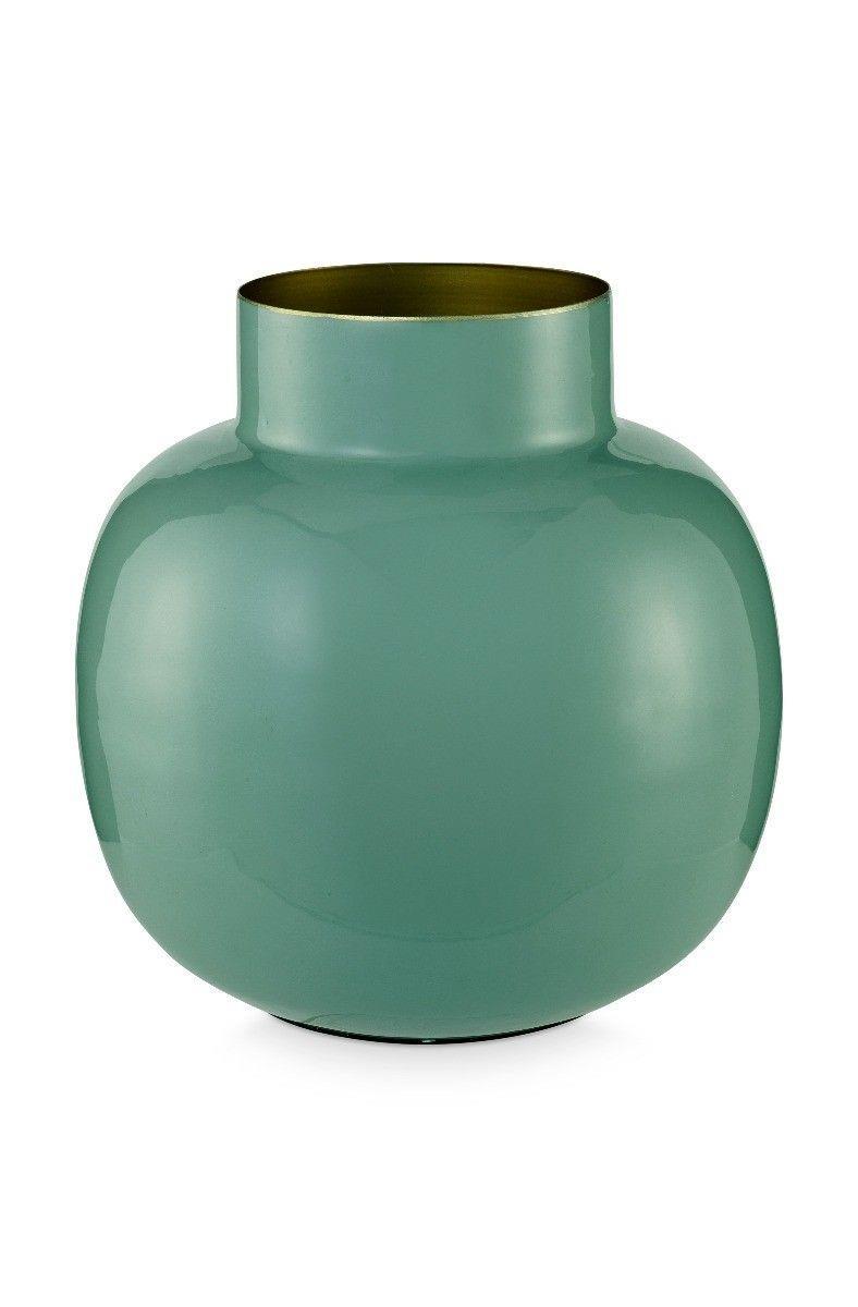 Βάζο διακοσμητικό μεταλλικό πράσινο Υ25cm Pip Studio 51102011