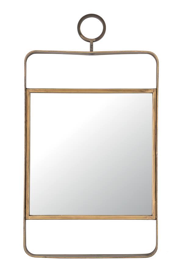 Καθρέπτης ορθογώνιος μεταλλικός χρυσός 35.5x3x66cm