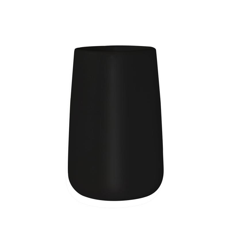 Ποτήρι οδοντόβουρτσας bamboo κεραμικό μαύρο 9x9x13cm Estia 02-4606