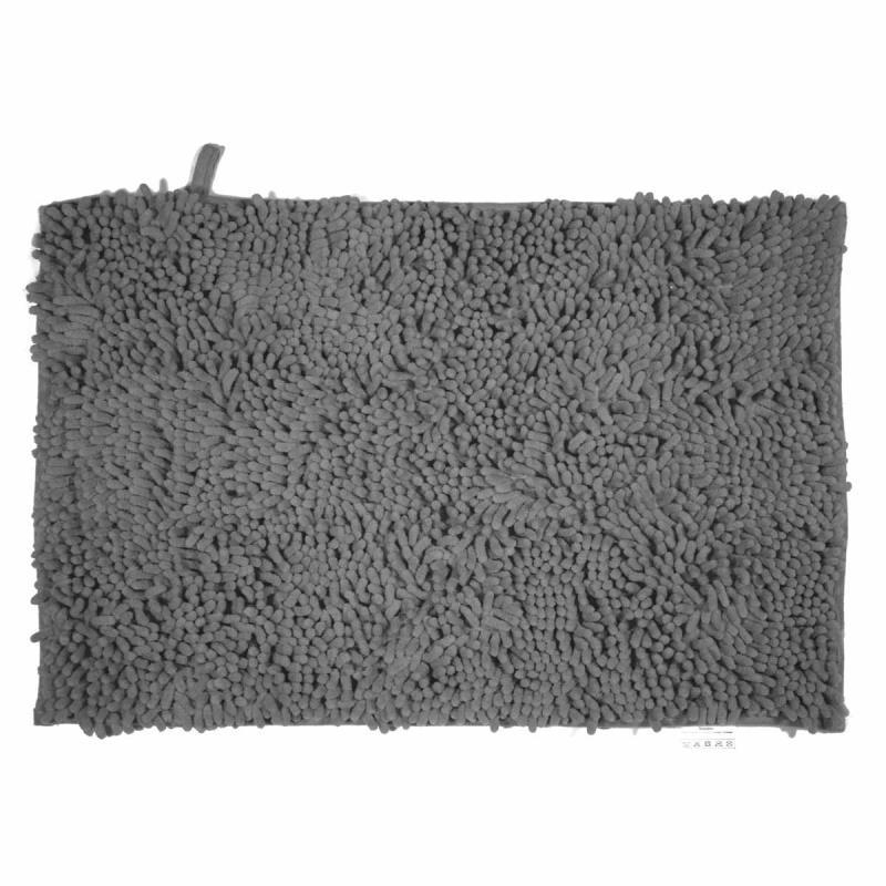 Πατάκι/ταπέτο μπάνιου Velvet polyester γκρι 50x80cm Estia 02-7348
