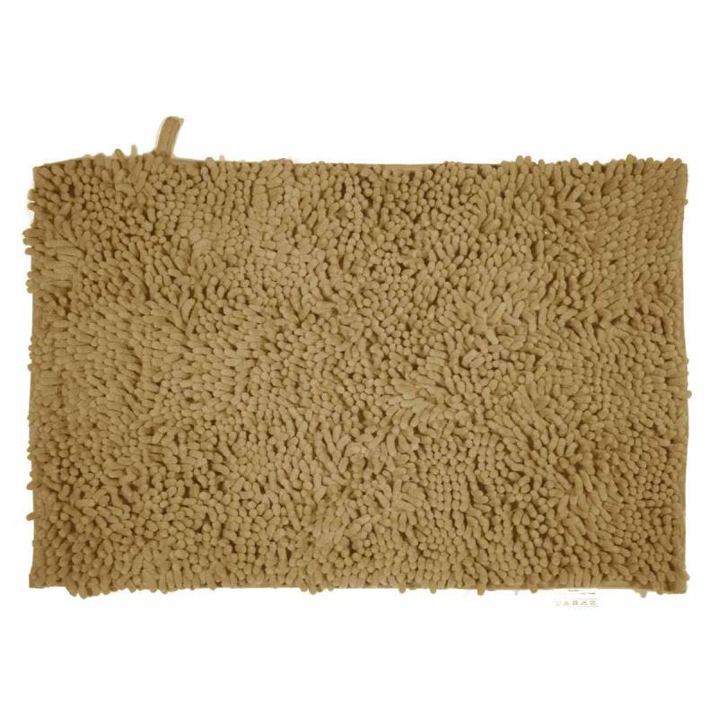 Πατάκι/ταπέτο μπάνιου Velvet polyester μπεζ 50x80cm Estia 02-7379