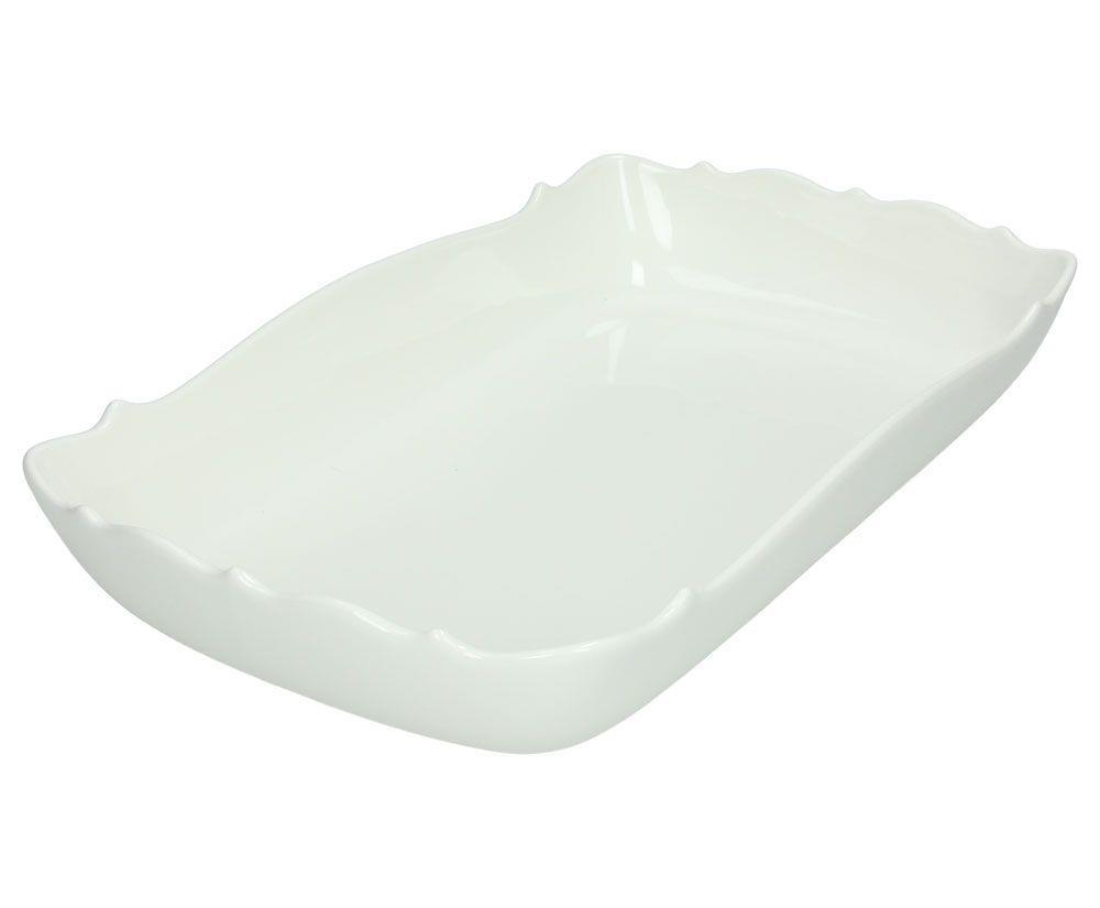 Ταψί πυρίμαχο ορθογώνιο πορσελάνινο λευκό 32x19x5.5cm Kalika Bianco