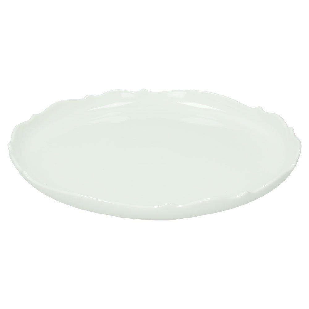 Τουρτιέρα χωρίς πόδι πορσελάνινη λευκή Δ30x3cm Kalika Bianco