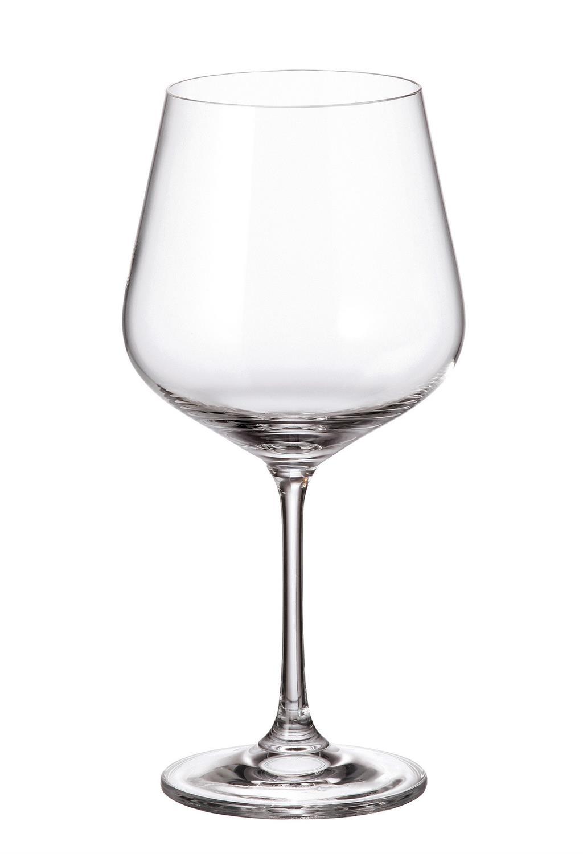 S/6 Ποτήρι κόκκινου κρασιού κρυστάλλινο Bohemia Strix 450ml