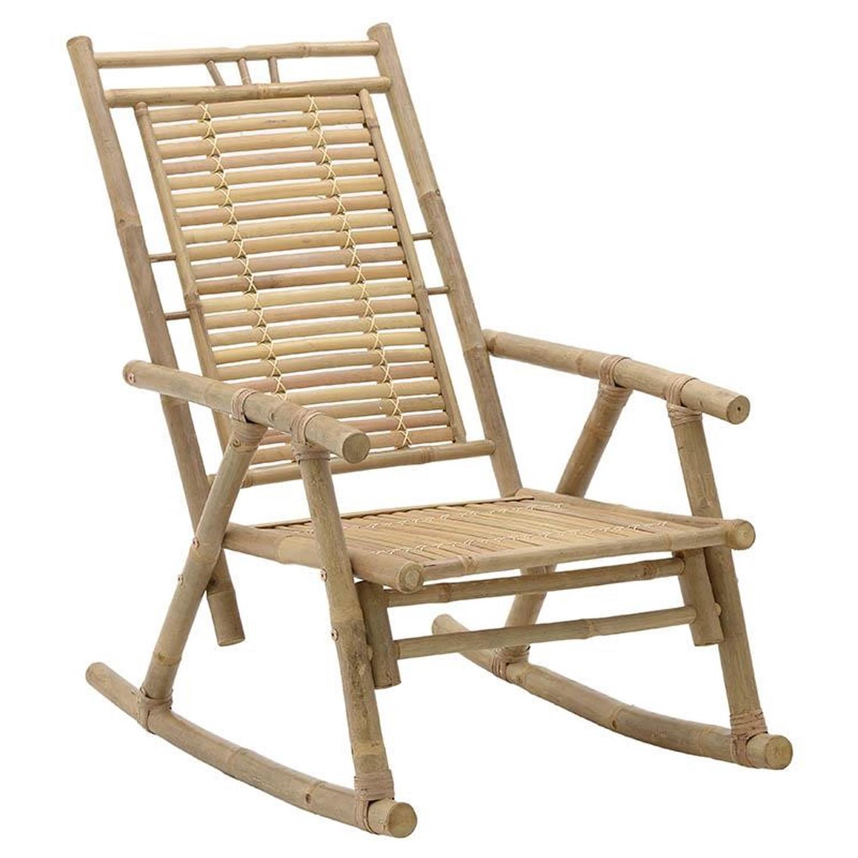 Καρέκλα κουνιστή μπαμπού natural 62x110x90cm Inart 3-50-236-0016