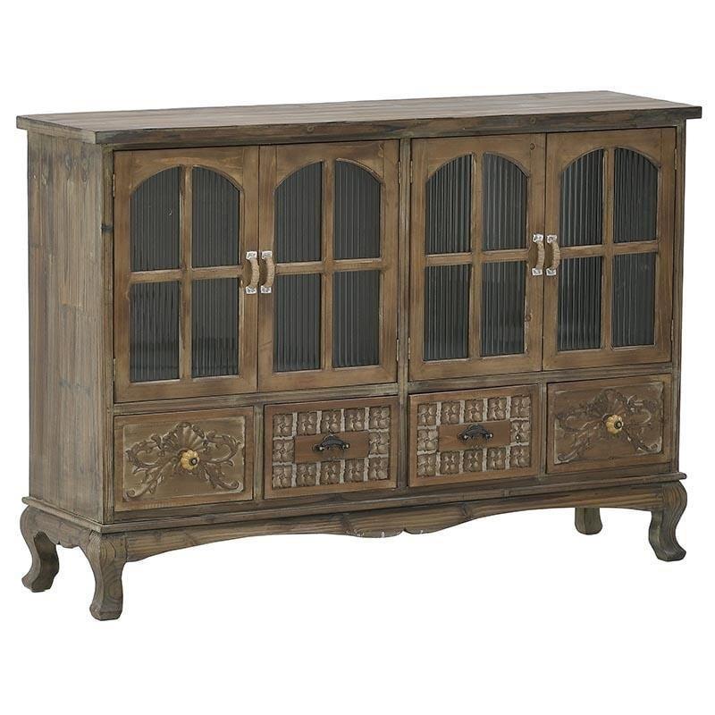 Μπουφές ξύλινος καφέ 120x32x84cm Inart 3-50-913-0045