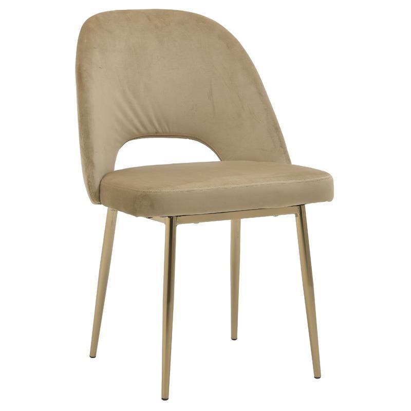 Καρέκλα μεταλλική/βελούδινη χρυσή 49x60x87_47cm Inart 3-50-688-0021