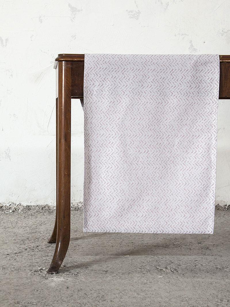 Runner Catmint βαμβακερό/polyester ροζ 50x165cm Nima