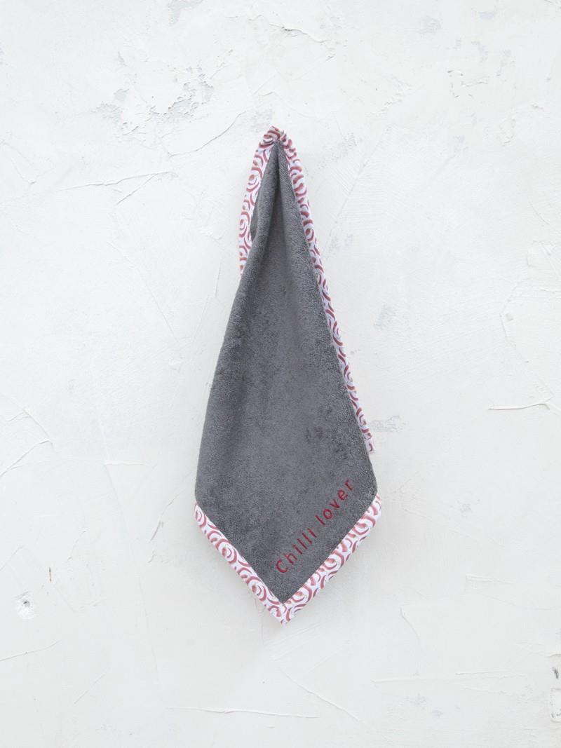 Πετσέτα Κουζίνας Chilli Lover βαμβακερή γκρι 45x45cm Nima