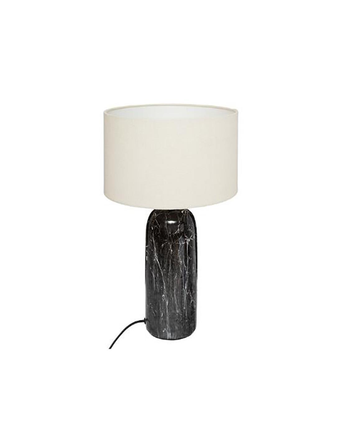Φωτιστικό επιτραπέζιο μαρμάρινο μαύρο/λευκό 48cm