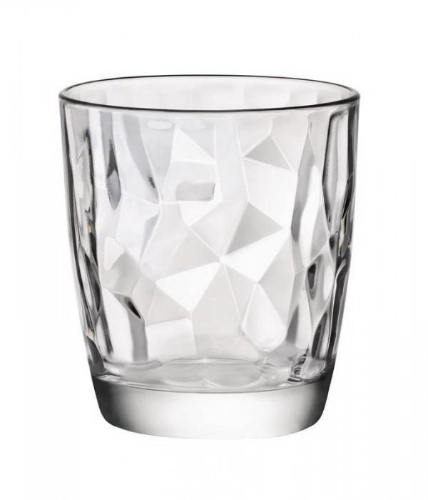 S/6 Ποτήρι κρασιού χαμηλό Diamond γυάλινο διάφανο 30.5cl Bormioli Rocco