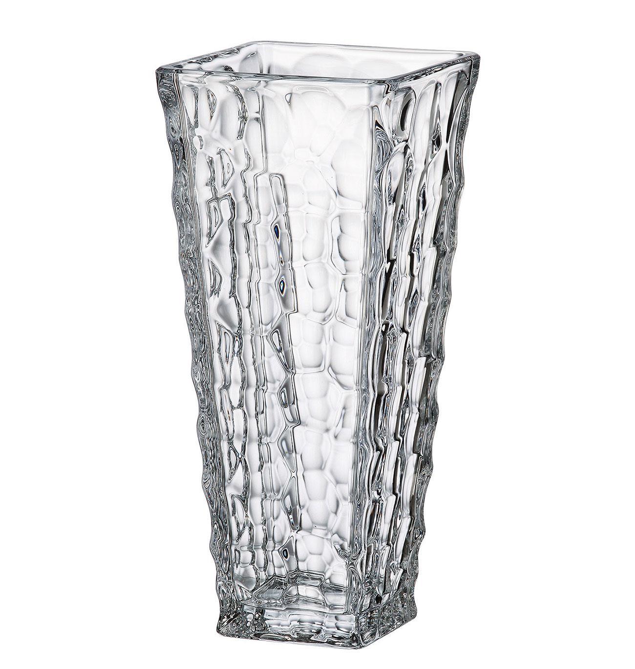 Βάζο διακοσμητικό Marble κρυστάλλινο διάφανο 30.5cm Bohemia