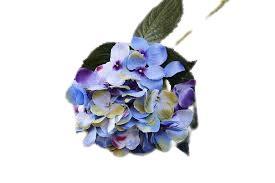 Διακοσμητικό λουλούδι ορτανσία μπλε λεβάντας υφασμάτινο 48cm