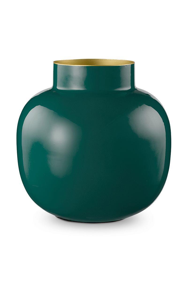 Βάζο διακοσμητικό μεταλλικό σκούρο πράσινο Υ25cm Pip Studio 51102020
