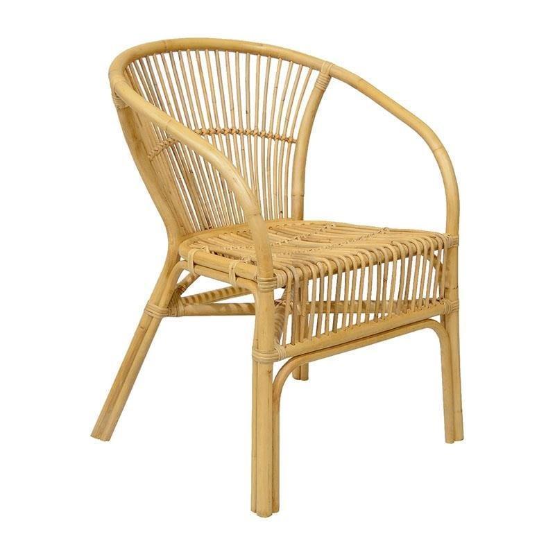 Καρέκλα rattan natural 59x60x80cm Inart 3-50-646-0008