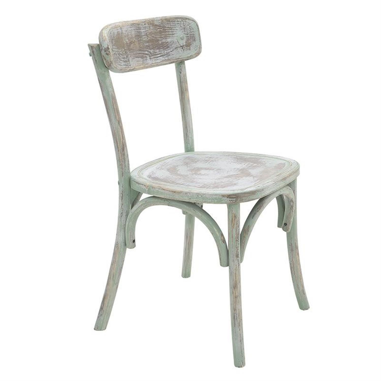 Καρέκλα μπιστρό ξύλινη αντικέ βεραμάν 46x42x85cm Inart 3-50-597-0058