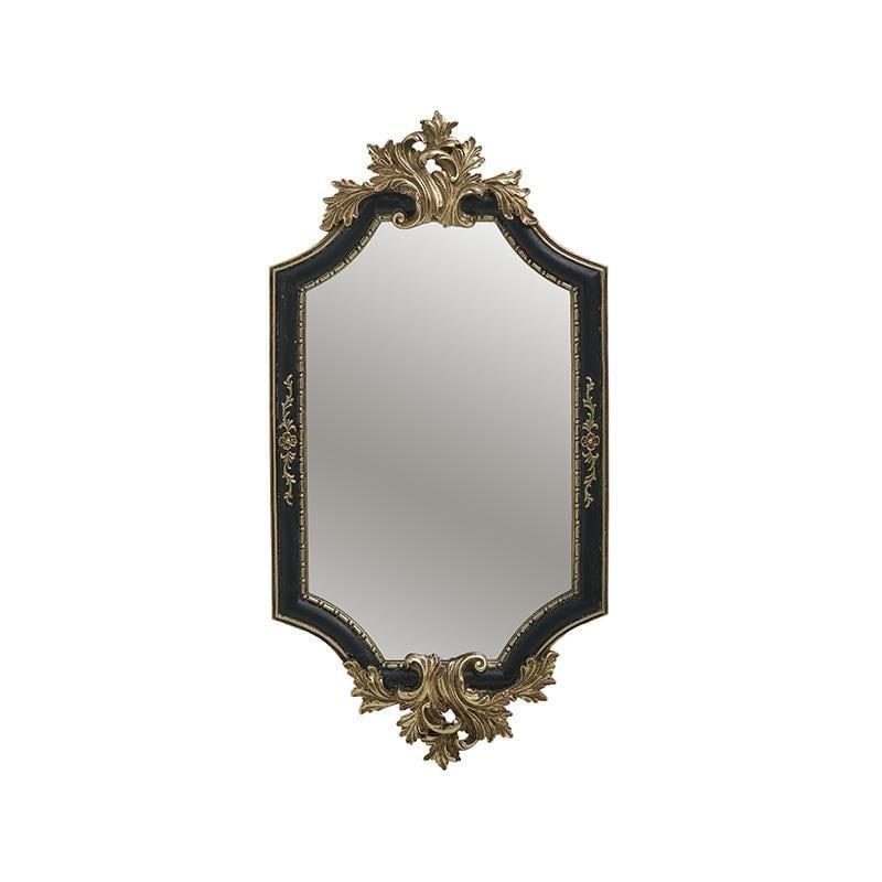 Καθρέπτης τοίχου polyresin μαύρο/χρυσό 21x3x41cm Inart 3-95-167-0001