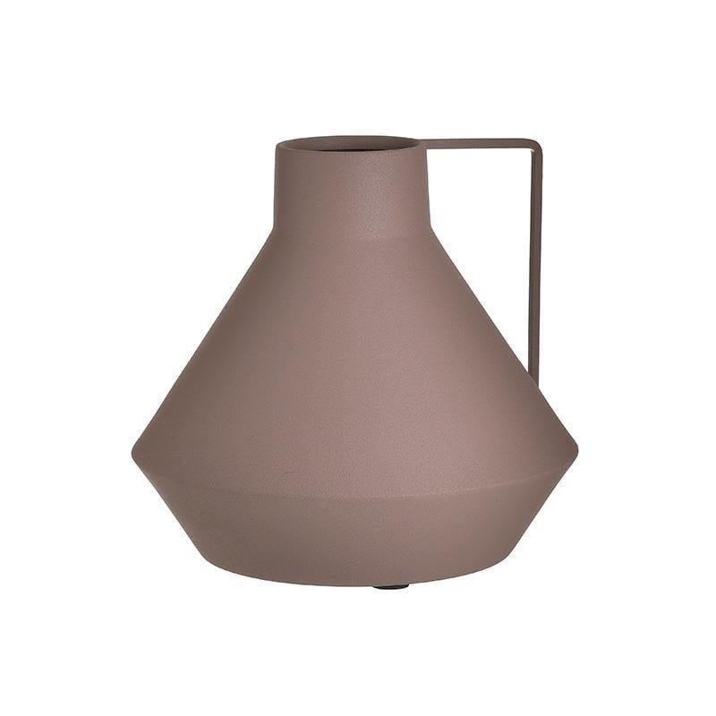 Βάζο διακοσμητικό μεταλλικό ροζ μωβ 23x23x22cm Inart 3-70-282-0025