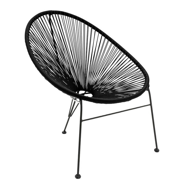 Καρεκλοπολυθρόνα pvc μαύρη 73x87x89cm Inart 3-50-671-0006