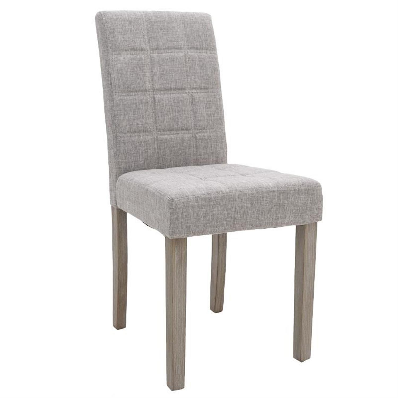 Καρέκλα υφασμάτινη καφέ με ξύλινα πόδια 43x53x91/48cm Inart 3-50-683-0007