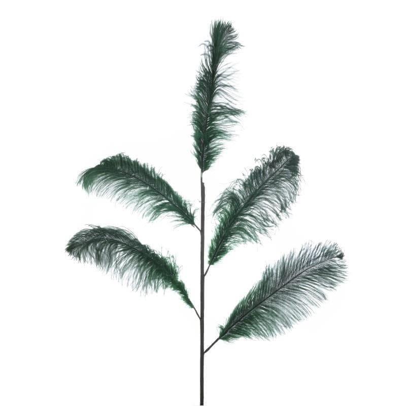 Φτερό διακοσμητικό πράσινο Y55x120cm Inart 3-70-355-0044