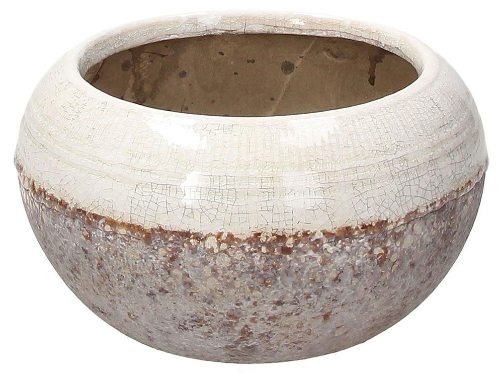 Βάζο διακοσμητικό κεραμικό λευκό/γκρι 18x18x10cm Andrea Fontebasso Gilla
