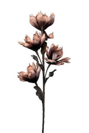Λουλούδι διακοσμητικό τετραπλό ροζ/σομών