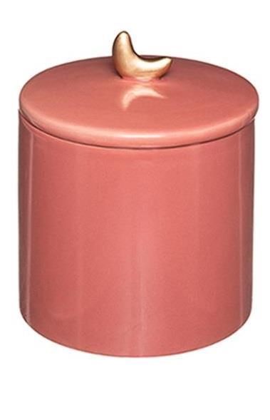 Βάζο διακοσμητικό με καπάκι gypsy κεραμικό ροζ 10.2×13.5cm
