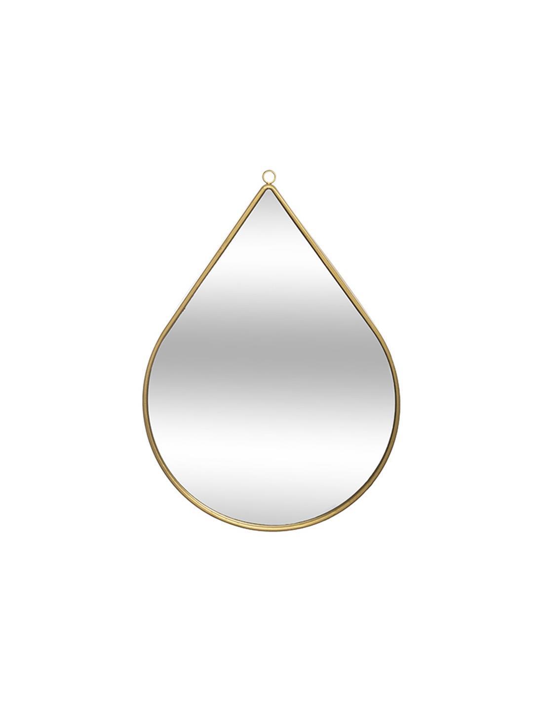Καθρέπτης τοίχου σταγόνα μεταλλικός χρυσός 21x29cm