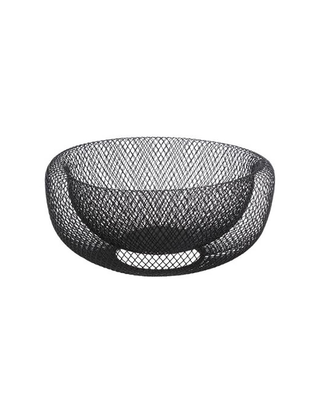 Φρουτιέρα mesh μεταλλική μαύρη Δ27×13.5cm