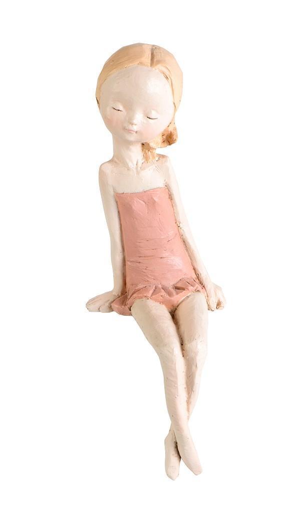 Κοριτσάκι polyresin πορτοκαλί 10.3×12.5×30.2cm Espiel ZAX130