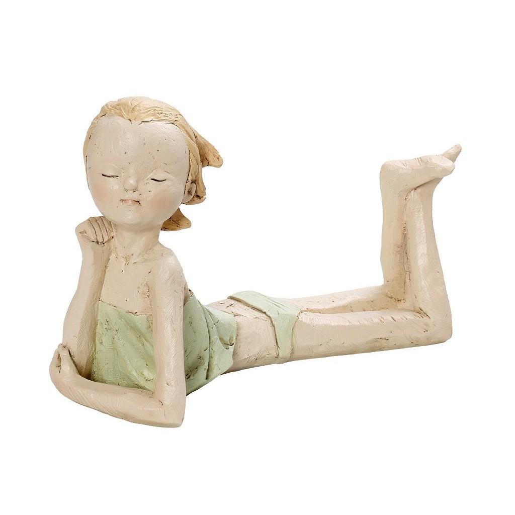Κοριτσάκι polyresin πράσινο 23.3×10.3×16.6cm Espiel ZAX133
